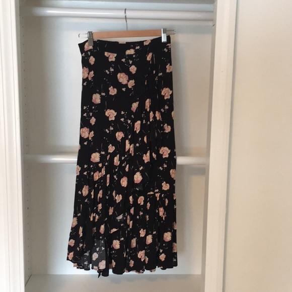 Abound Dresses & Skirts - Black floral skirt from Nordstrom Rack.